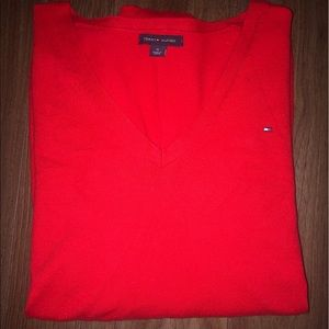 Like New Tommy Hilfiger Red long sleeve.